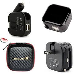 KINDEN 2-in-1 Compact Wall Charger,Car Charger,Travel Charge