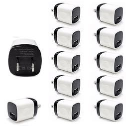 10 Pack Wall Charger USB Power Adapter Cube Plug For Samsung