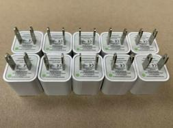 10 units-Wall Charger 5V 1A USB 10-Pack Port Plug Cube For A