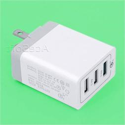 100% New 3-Port QC3.0 Adapter USB Wall Charger with Foldable