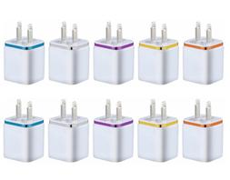 10x double usb wall fast charger adapter