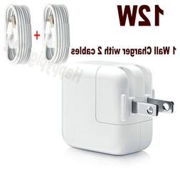 12W USB Power Adapter Wall Charger Cable for Apple iPad 2 3