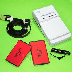 AceSoft 1350mAh Battery Wall Charger Data Cable for Tracfone