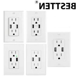 Electrical High Speed USB Wall Outlet Charger with Wall Char
