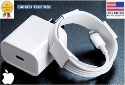 18W Fast Apple Wall Charger USB-C Power Adapter with Cable F
