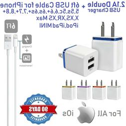 ⭐⭐⭐⭐⭐2.1A White Double USB Wall charger Cube With