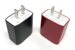 2-Pack Dual Port USB Cell Phone Wall Charger 2.4A Fast Charg