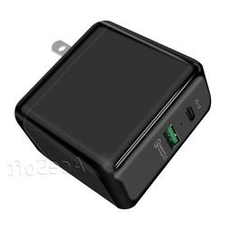 100% New Portable Multi Function Dual USB Wall Charger Power