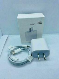 20W iPhone charger Fast USB cable & wall cube For IPHONE 7 8