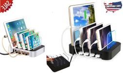 24 W 4 PORT SUPER FAST USB CHARGING STATION Cell Phone Table