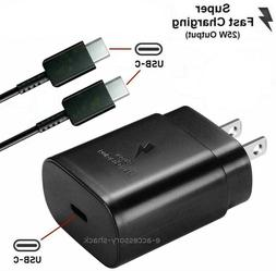 25w Type USB-C Super Fast Wall Charger+Cable For Samsung Gal
