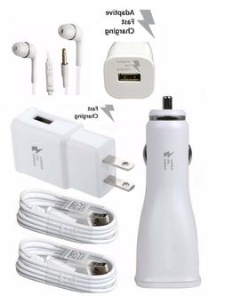 2XUSB+Wall Charger+car+HEADSET FAST ADAPTIVE RAPID CHARGER L