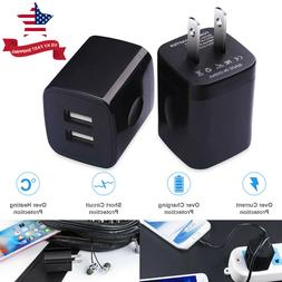 2Pc USB Wall Charger 2.1A Dual Port Phone Charging Cube Char