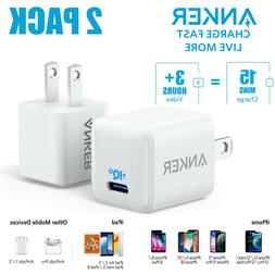 2x Anker Nano Charger 20W Fast Charger PIQ 3.0 USB-C Power A