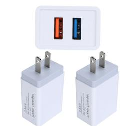 2XUSB Double Wall Fast Charger Adapter 1.5A 2A 5V  For Andro