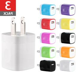3 pack usb wall charger ac power