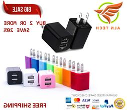 3-Port Fast Wall Charger Charging Block Phone USB Cube iPhon