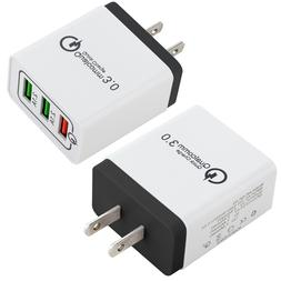 30W 3-Port USB Wall Charger with Quick Charge 3.0 Ports For