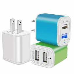 Ailkin 3Pcs High Speed Charging Blocks Wall Charger for iPho