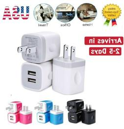 3pcs Universal 2.1A Dual Port USB Wall Charger Fast Charging