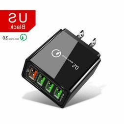 4 Multi Port Fast Quick Charge 3.0 USB Hub Wall Charger Adap