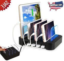 4 PORT 24 W SUPER FAST USB CHARGING STATION Cell Phone Table