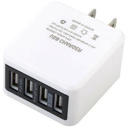 4 port usb wall charger plug ac