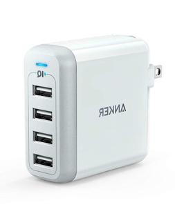 Anker 40W 4-Port USB Wall Charger with Foldable Plug PowerPo