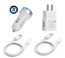 4Pack Car Wall Charger Cord for ZTE Zmax Pro Z981 Blade X Ma