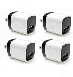 4x white 1a usb power adapter ac