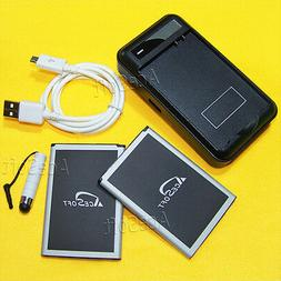 AceSoft 5570mAh Batteries Wall Charger Cable Pen f LG G Styl