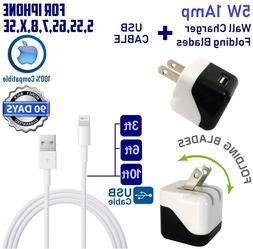 5W 1 Amp Wall Charger CUBE + USB Lightning Cable For apple i