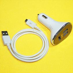 30W/6.3A 3-Port USB Car Charger with Quick Charge 3.0 Techno