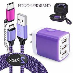 AILKIN 6 in 1 Travel Micro Cables & Wall Charger