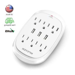 6 outlet surge protector with 3 usb