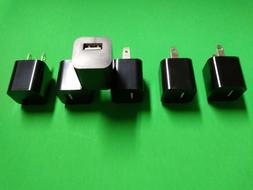 6-Pack USB Wall Charger USB Plug 1A/5V Wall Adapter Charging