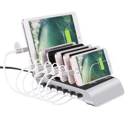 6 Port USB Charging Dock Station Smart Cell Phone Pad Tab 2.