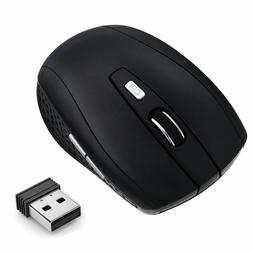 2.4GHz Wireless Optical Gaming Mouse Cordless Mice + USB Rec