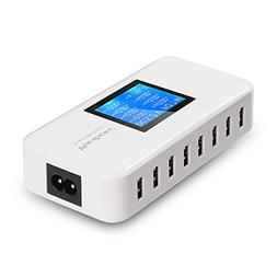 Vanbon 60W 8-Port USB Wall Charger, Multi Port USB Charger C