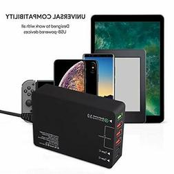 6USB Wall Charger QC3.0 Phone Fast Charger EU Plug Qualcomm