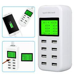 8-Port Smart Multi USB AC Wall Charger Hub Smart Fast Wall C