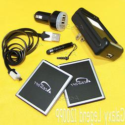 AceSoft Battery+Car+Wall Charger+Data Cable+Styli f Samsung