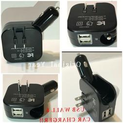 Car Charger Wall Charger Dual USB 2.1A Universal iPhone Sams