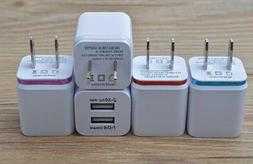 Dual USB High Speed Universal Travel Wall Plug Charger Samsu