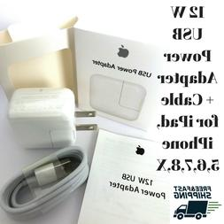 NEW OEM 12W-USB-Wall-Charger & Cable-for-Apple-iPad-Mini-Air