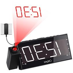OnLyee Projection Clock, AM FM Radio Alarm Clock, Bedroom De