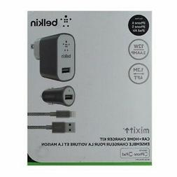 Original Belkin Mixit Up Car Home Wall Charger Kit Lightning