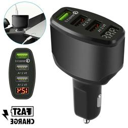 QC 3 Port USB 3.0 Car Quick Charger Adapter Fast Charging fo
