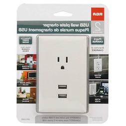RCA WP2UWR USB Wall Plate