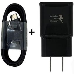 USB Type-C Cable with Adaptive Fast Wall Charger for Samsung